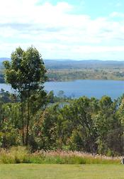The view from the Bert Button Lookout picnic grounds