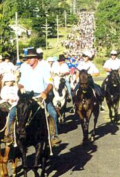 The Kilkivan Great Horse Ride procession